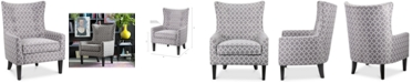Furniture Brie Printed Fabric Accent Chair