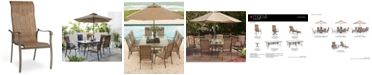 Furniture Oasis Aluminum Outdoor Dining Chair, Created for Macy's