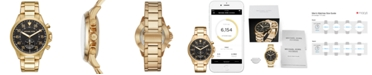 Michael Kors Access Men's Gage Gold-Tone Stainless Steel Hybrid Smart Watch 45mm