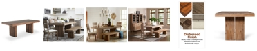 Furniture CLOSEOUT! Champagne Dining Trestle Table, Created for Macy's