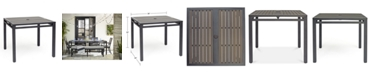 """Furniture Aluminum 36"""" Square Outdoor Dining Table, Created for Macy's"""
