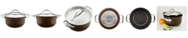 Anolon Nouvelle 4-Qt. Copper Luxe Sable Hard-Anodized Non-Stick Casserole