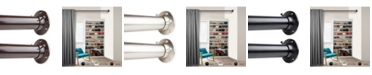 "Rod Desyne 1.5"" Adjustable 48-84 inch Room Divider Rod and Socket Set"