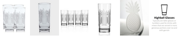 Rolf Glass Pineapple Cooler Highball 15Oz - Set Of 4 Glasses