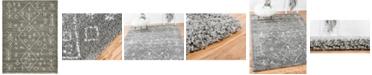 Bridgeport Home Fazil Shag Faz1 Gray 9' x 12' Area Rug