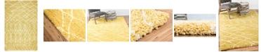 Bridgeport Home Fazil Shag Faz2 Yellow 5' x 8' Area Rug