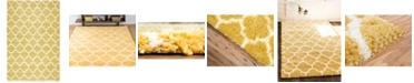 Bridgeport Home Fazil Shag Faz4 Yellow 5' x 8' Area Rug