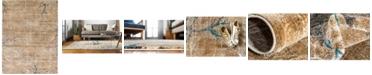 Bridgeport Home Aroa Aro1 Light Brown 9' x 12' Area Rug