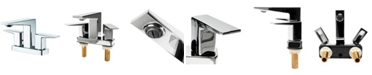 ALFI brand Polished Chrome Two-Handle 4'' Center set Bathroom Faucet