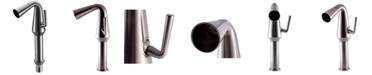 ALFI brand Brushed Nickel Single Hole Tall Cone Waterfall Bathroom Faucet