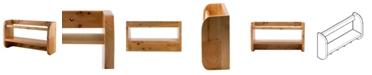 "ALFI brand 18"" Wall Mounted Wooden Shelf Hooks Bathroom Accessory"