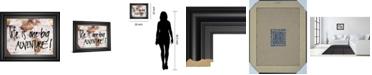 "Classy Art World on Wood by SD Studios Framed Print Wall Art, 22"" x 26"""