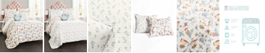 Lush Decor Chirpy Birds Reversible 5-Piece Full/Queen Quilt Set