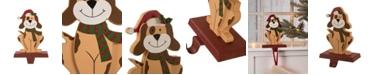 "Glitzhome 7.76"" H Wooden Dog Stocking Holder"