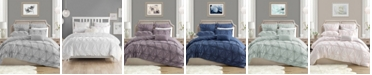 Cathay Home Inc. Charming Ruched Rosette Duvet Cover Sets