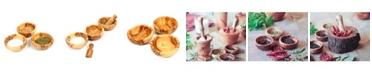 BeldiNest Wooden Spice Bowls, Set of 3 Mini Bowls