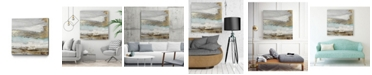 "Giant Art 30"" x 30"" Playa Secreto II Teal Version Museum Mounted Canvas Print"