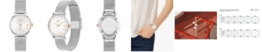 COACH Women's Perry Stainless Steel Mesh Bracelet Watch 28mm