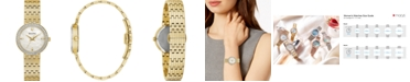 Bulova Women's Phantom Gold-Tone Stainless Steel Bracelet Watch 28mm, Created for Macy's