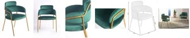 Bold Tones Silk Velvet Modern Gold-Tone Metal Chair