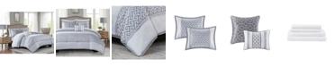 Addison Park Bennett Grey Queen 9-Pc. Comforter set