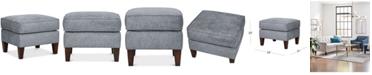 "Furniture Chloe II 24"" Fabric Foot Stool"