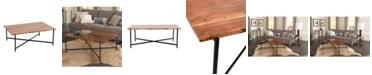 Alaterre Furniture Rivers Edge Acacia Wood and Acrylic Coffee Table