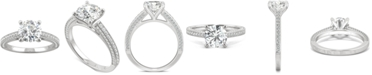 Charles & Colvard Moissanite Engagement Ring (2-1/10 ct. t.w. DEW) in 14k White Gold
