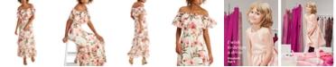INC International Concepts INC Elizabeth Make A Wish Off-The-Shoulder Maxi Dress, Created for Macy's