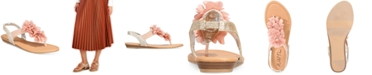 Wild Pair Sari Floral Embellished Flat Sandals, Created for Macy's