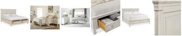 Furniture Sag Harbor White Storage King Platform Bed