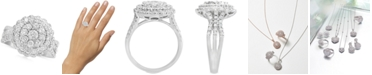 EFFY Collection Rock Candy by EFFY® Diamond Halo Cluster Ring (1-1/3 ct. t.w.) in 14k White Gold