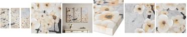 JLA Home Gleeful Bloom Yellow 3-Pc. Hand-Embellished Canvas Print Set