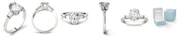 Charles & Colvard Moissanite Oval Engagement Ring (2-1/2 ct. tw. Diamond Equivalent) in 14k White Gold