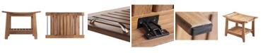 Blue Wave Teak Shower and Sauna Bench with Storage