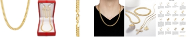 "Italian Gold Miami Cuban Link 22"" Chain Necklace in 10k Yellow Gold or 10k White Gold"