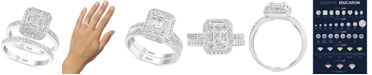 EFFY Collection EFFY® Bridal Diamond Baguette Cluster Bridal Set (7/8 ct. t.w.) in 14k White Gold