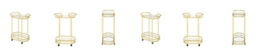 Coaster Home Furnishings Bronson 2-Tier Serving Cart