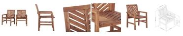 Walker Edison Patio Wood Chairs, Set Of 2