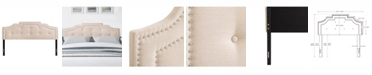 CorLiving Aspen Crown Silhouette Headboard with Button Tufting, King