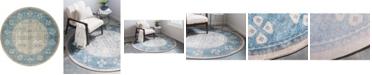 Bridgeport Home Bellmere Bel1 Beige 8' x 8' Round Area Rug