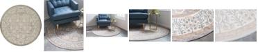 Bridgeport Home Bellmere Bel3 Gray 8' x 8' Round Area Rug