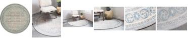 Bridgeport Home Bellmere Bel4 Gray 6' x 6' Round Area Rug