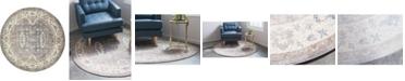 Bridgeport Home Bellmere Bel5 Gray 4' x 4' Round Area Rug
