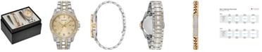 Bulova Men's Two-Tone Stainless Steel Bracelet Watch 42mm Gift Set