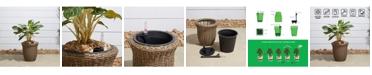 VIFAH Ocala Curved Oval Wicker Smart Self-Watering Planter