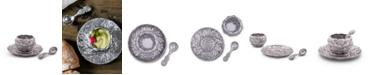 Arthur Court Aluminum Artichoke Condiment Set 3 Piece Bowl, Tray, Spoon