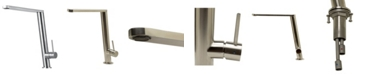 ALFI brand Round Modern Brushed Stainless Steel Kitchen Faucet