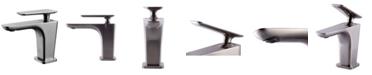 ALFI brand Brushed Nickel Single Hole Modern Bathroom Faucet