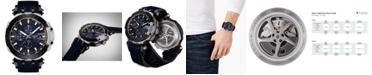 Tissot Men's Swiss Automatic Chronograph T-Race Black Rubber Strap Watch 48.8mm